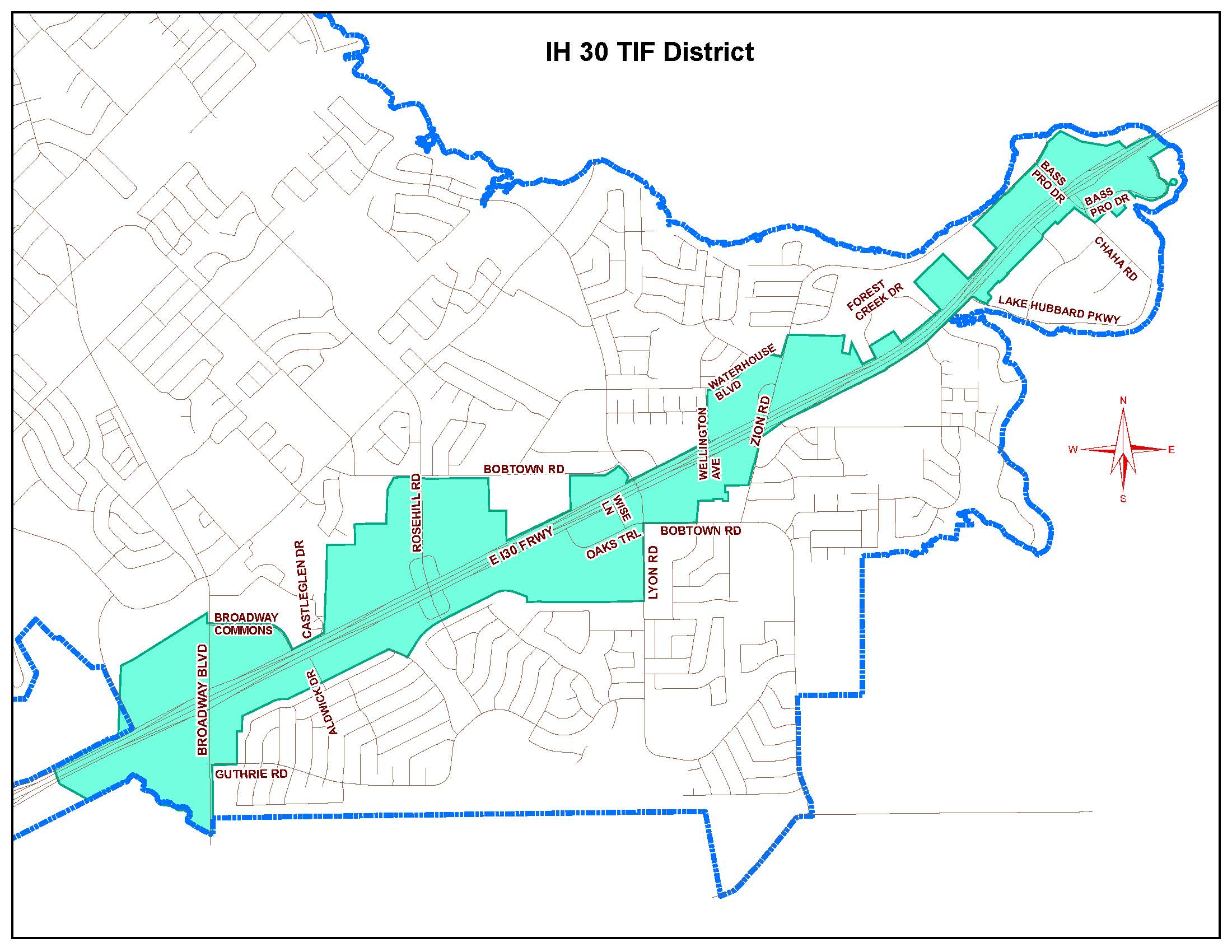 Highway 30 Tax Increment Financing District Map (JPG)